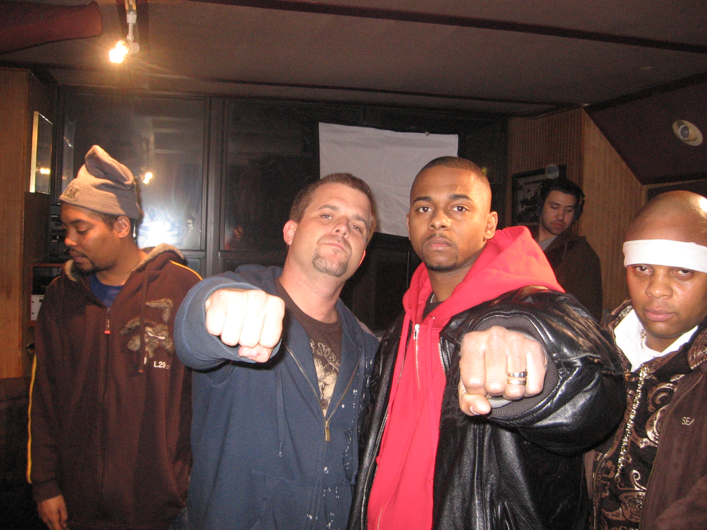 Director Frank Meyer, Hell Razah and Shabazz the Disciple behind the scenes 2008