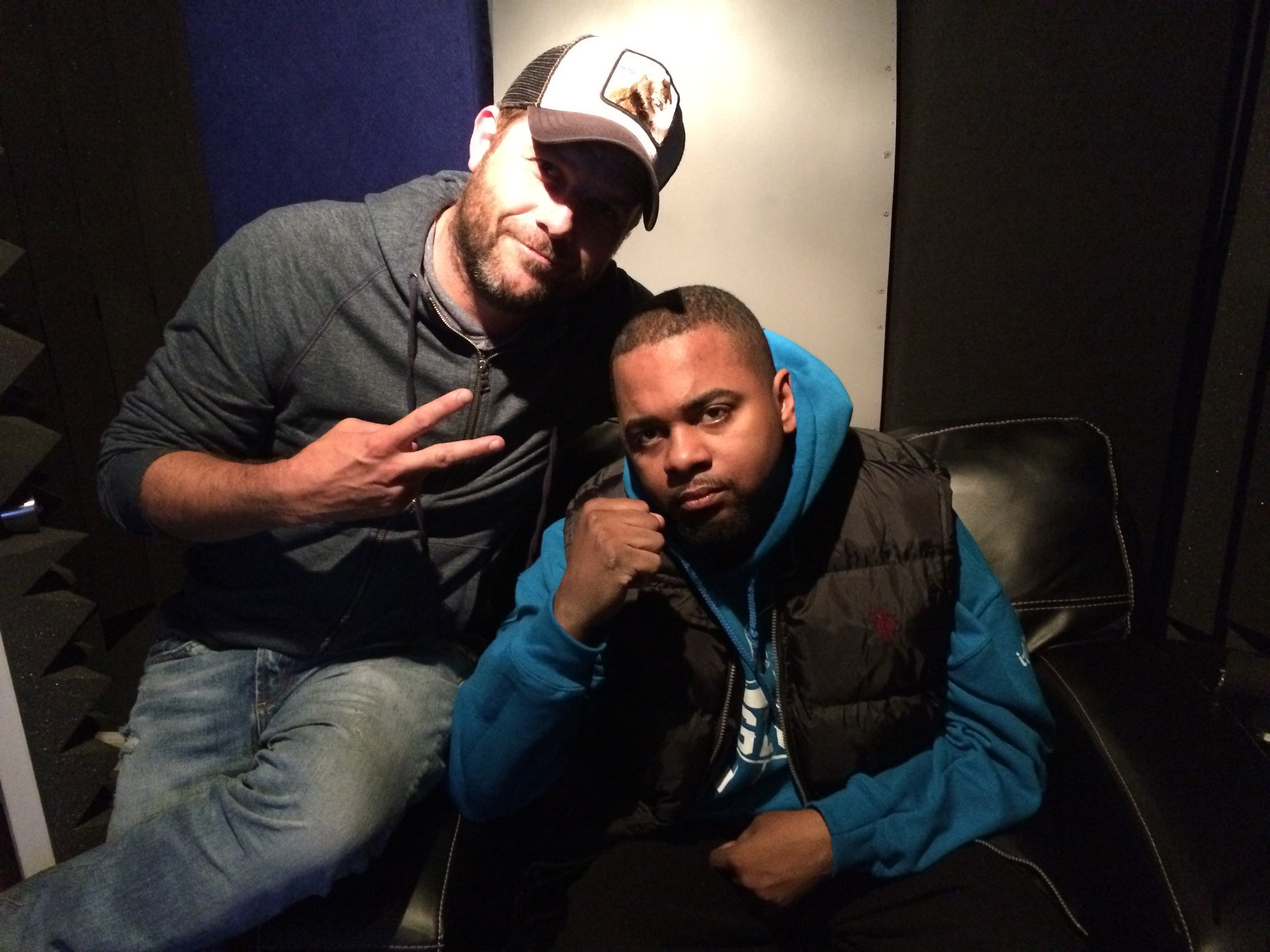 Director Frank Meyer and Hell Razah behind the scenes 2015