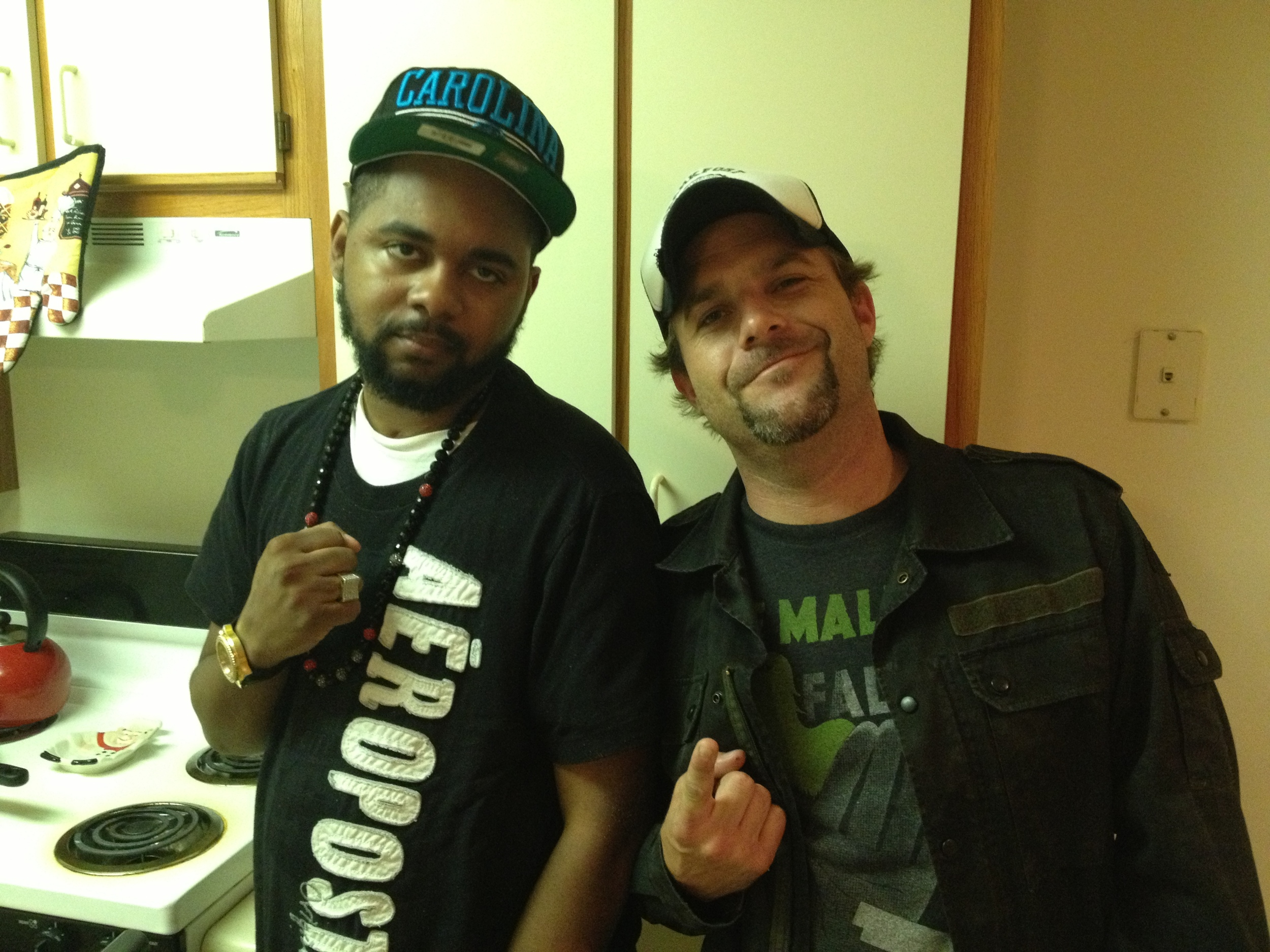 Director Frank Meyer and Hell Razah behind the scenes 2012