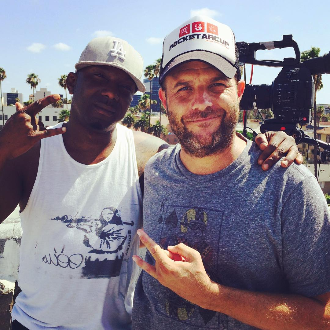 Director Frank Meyer and Ras Kass ehind the scenes 2015