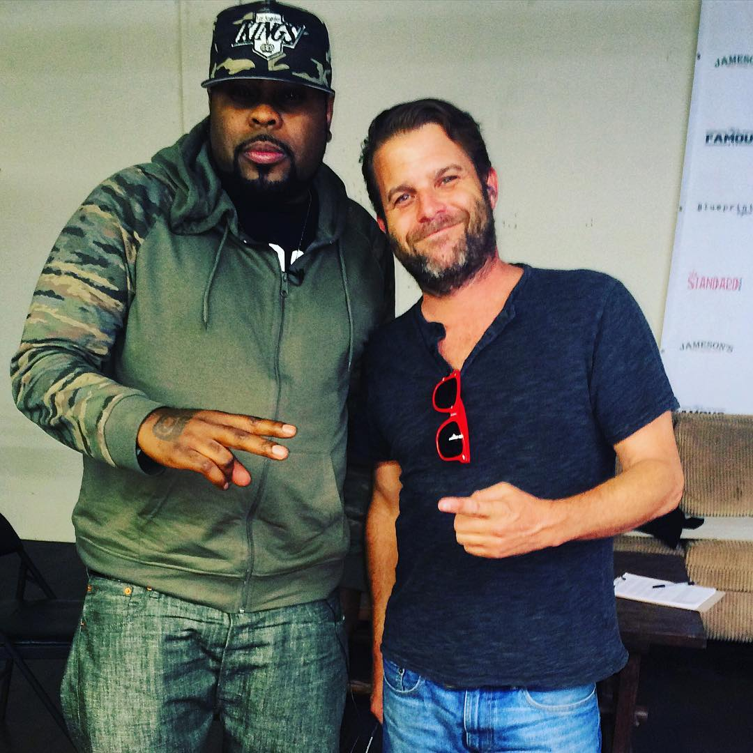 Crooked I and Director Frank Meyer behind the scenes