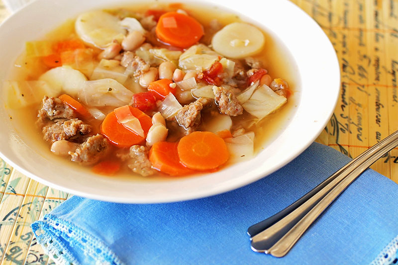 Italian Soup with Cabbage
