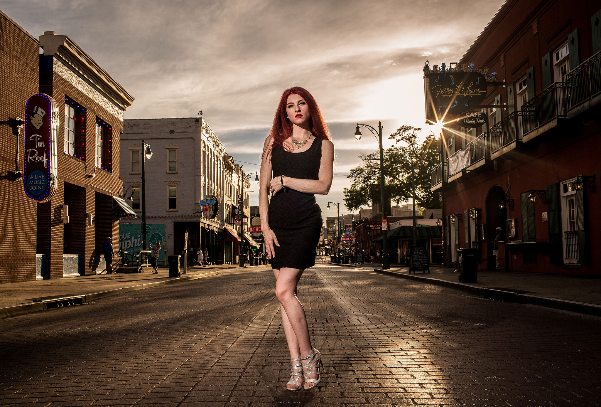 Beale Street - I recently photographed this portrait at the famous Beale Street of Memphis. There are some amazing spots in and around this street that photographers can use!