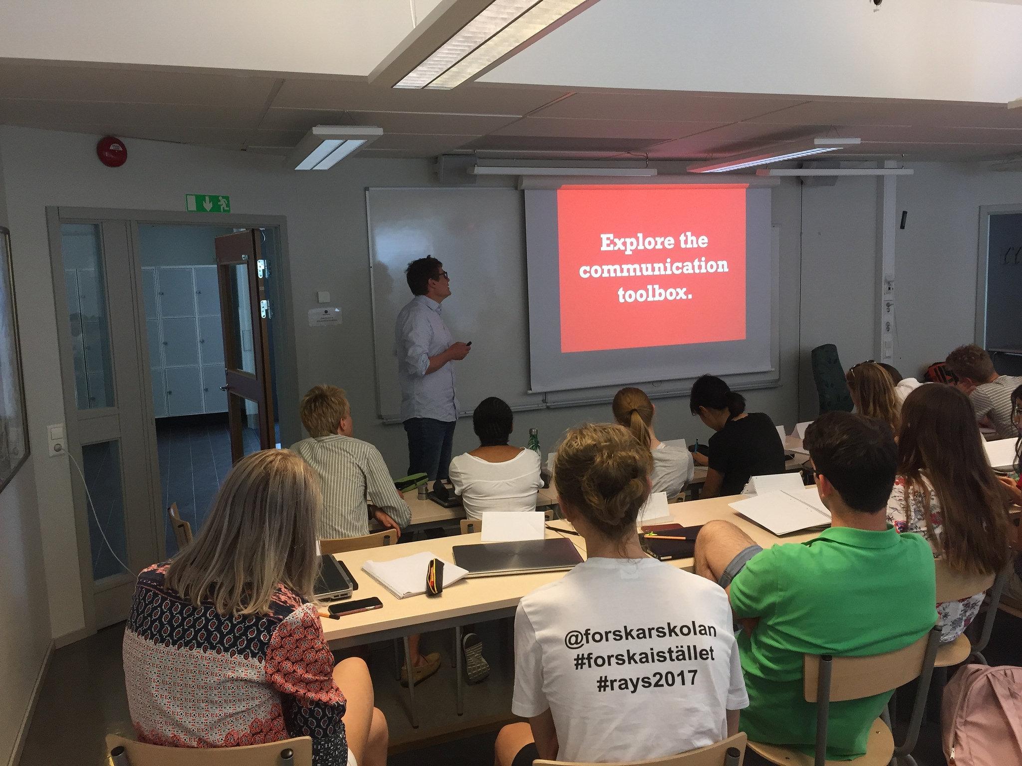Olle Bergman berättar om hur man kommunicerar ut sin forskning.