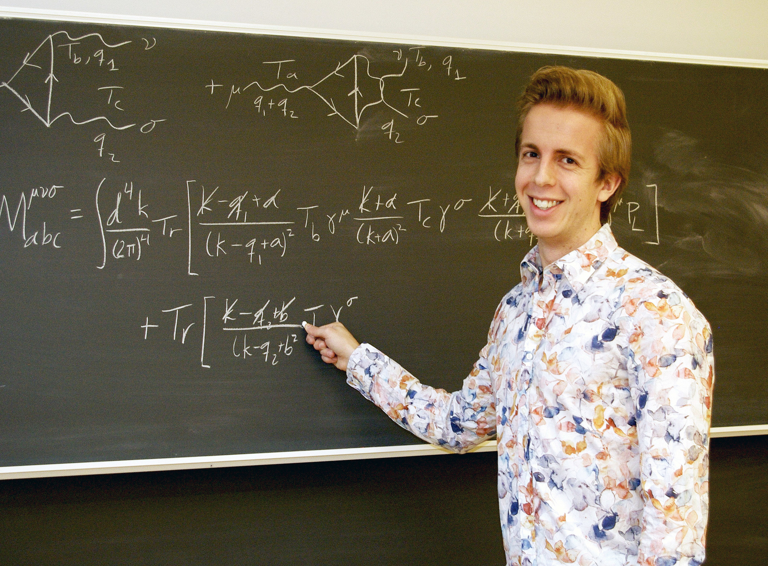 Felix Tellander har fått motta Anders Walls stipendium för unga forskare. Fotograf: LInnéa Sandström