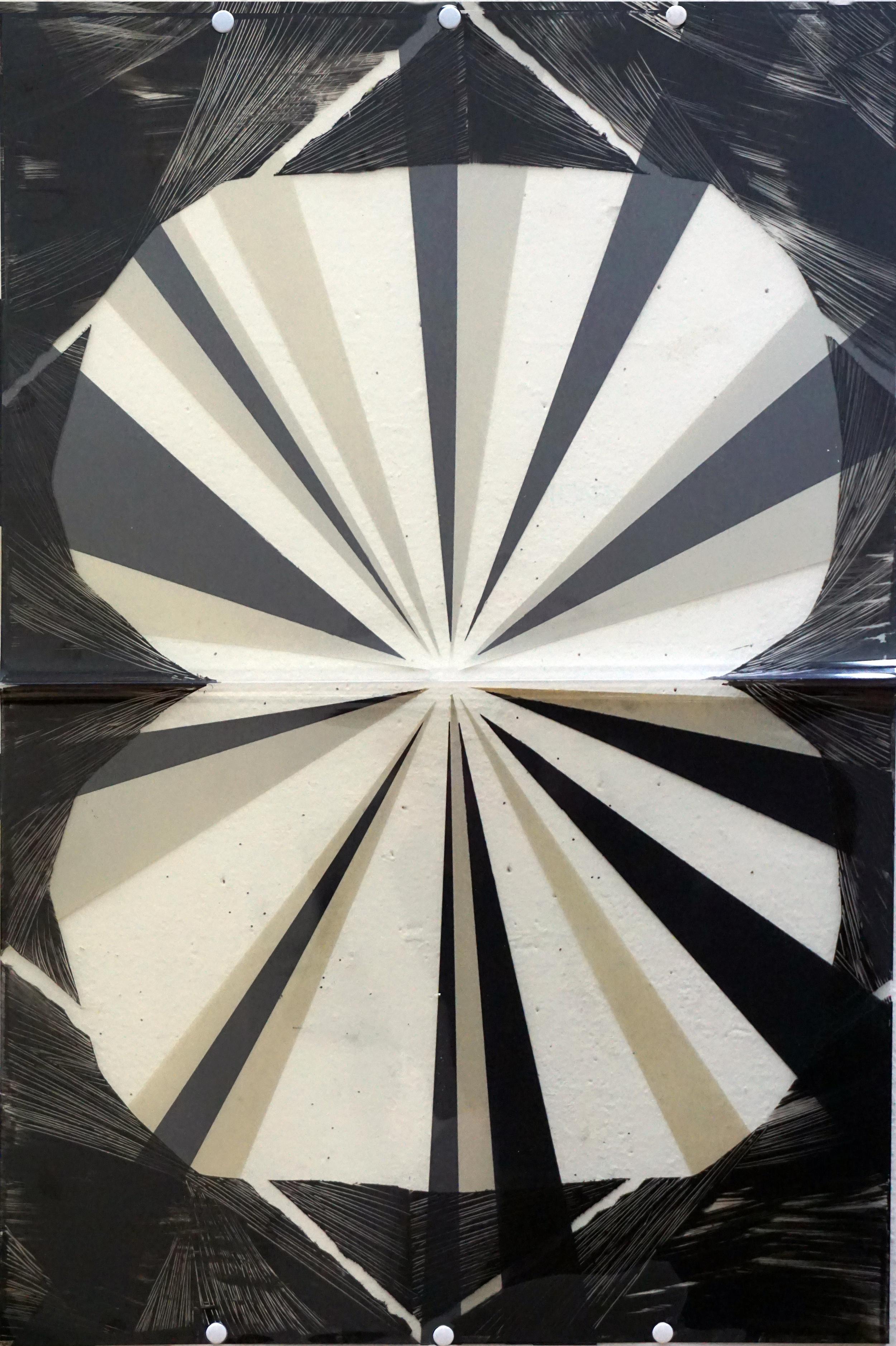 Untitled  2016 paint, mylar 63.5 x 42 cm