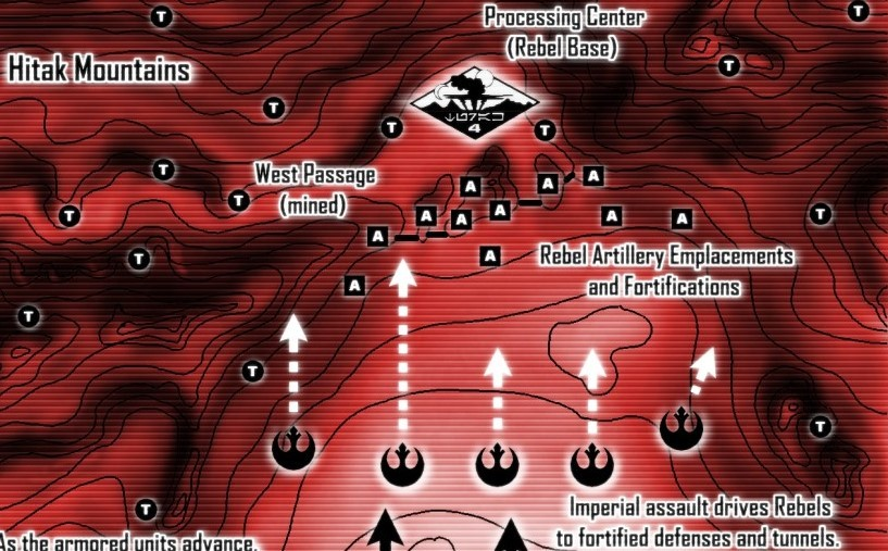 Battle of Turak IV Tactical Map excerpt