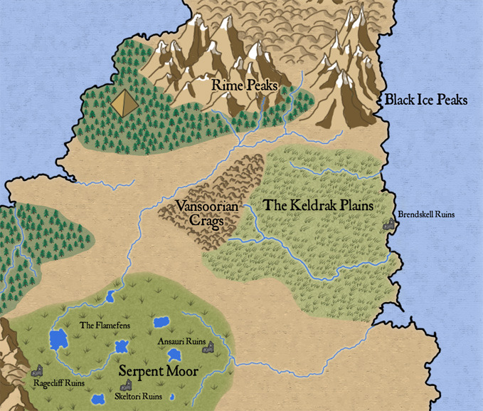 Realms Works - Isle of Kandril map