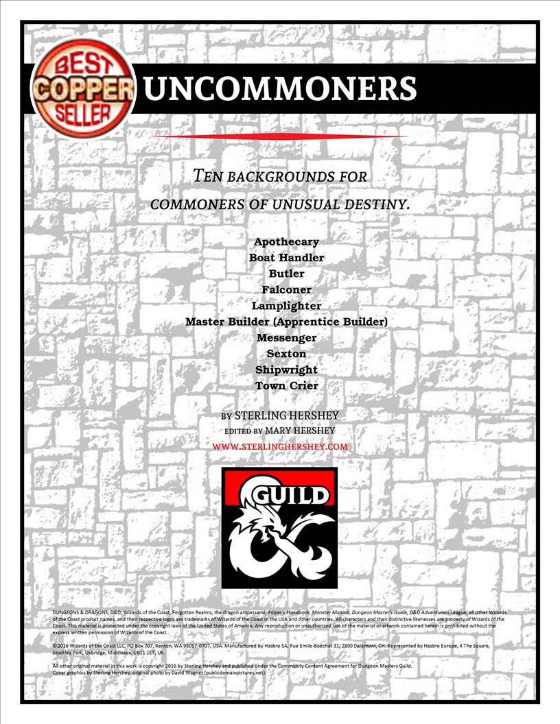 D&D - DMs Guild - Uncommoners