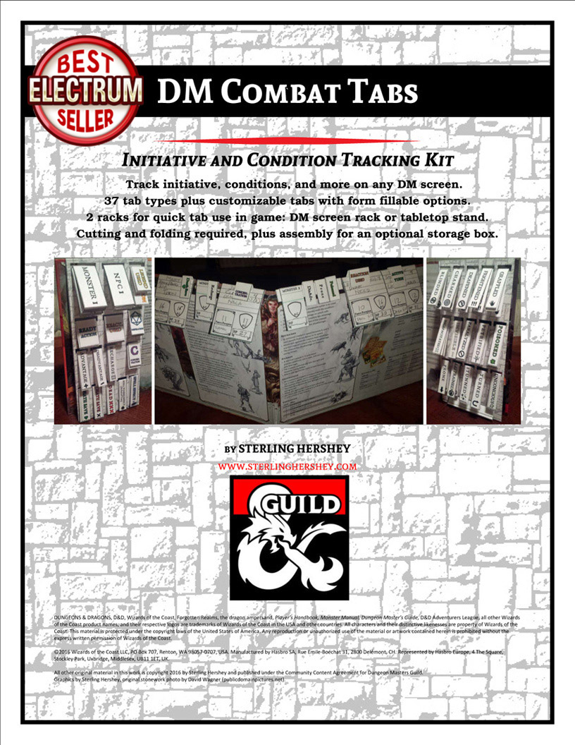 D&D DM Combat Tabs