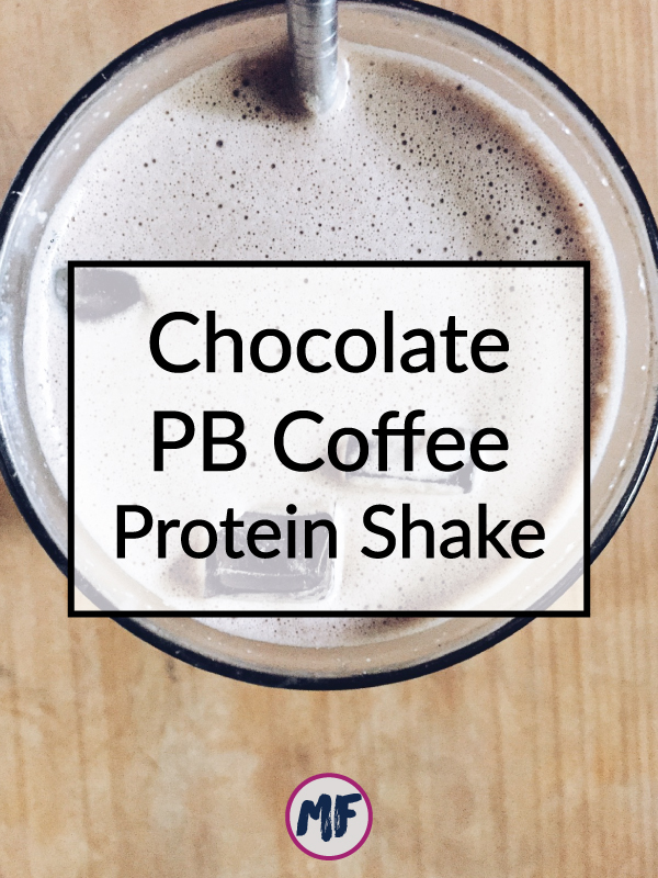 Chocolate Peanut Butter Coffee Protein Shake - for those times when you are craving cake but know you should eat something healthier, this will hit the spot for sure! Click to get the recipe!