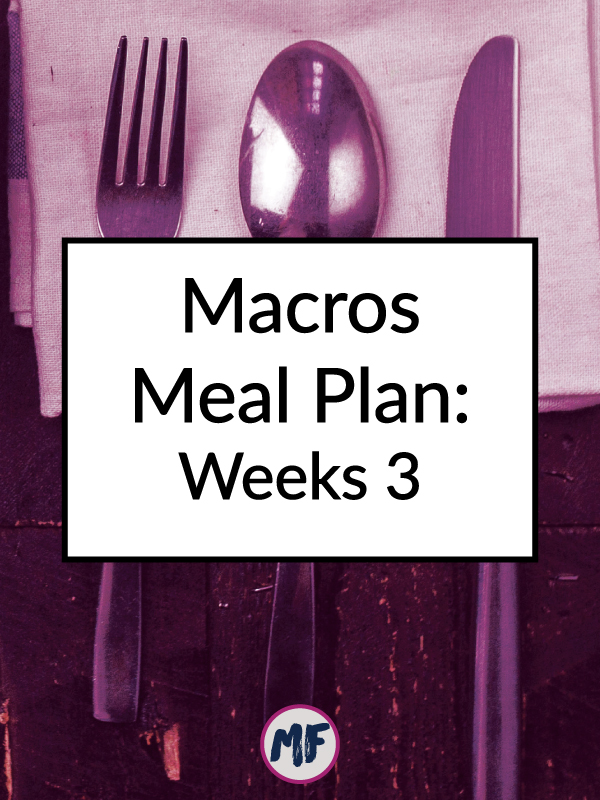 Macros Meal Plan Recap - Week 3: A look at what I'm eating and my progress update on my 3 month macro plan from RP Strength