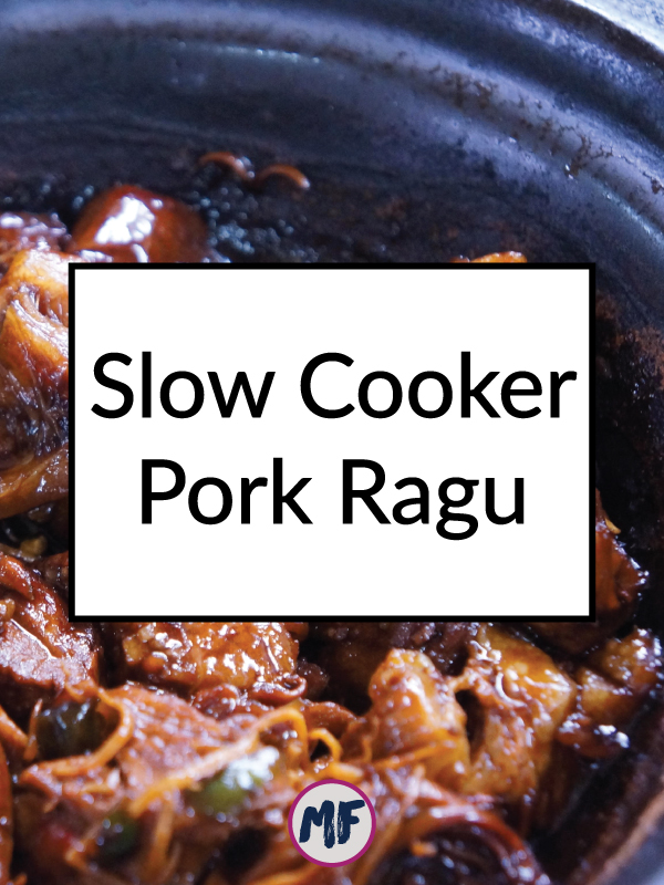 Slow Cooker Pork Ragu - Super easy and super tasty crockpot pork recipe for nights when you need something easy and hands-off for dinner. Click for the recipe! Paleo, gluten-free, dairy-free, and delicious!!