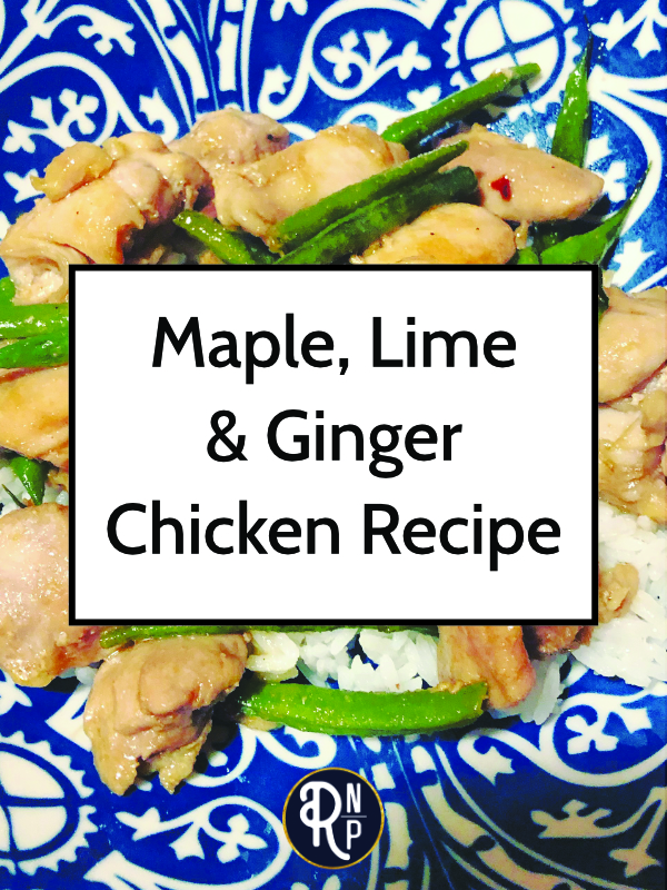 A quick and easy weeknight dinner option This maple, lime, and ginger chicken can be adapted for Whole30 or low-carb. You can also mix and match any veggies you want!