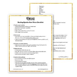 Healing epstein barr virus checklist