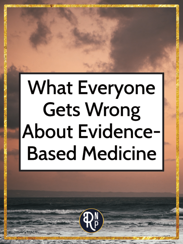 """The term """"evidence-based' gets thrown around a lot these days. You can find it everywhere (even on this website). From using it to promote products to clinicians using it to describe how they practice. But, there are several problems with the use (and overuse) of this term. #evidencebasedmedicine"""