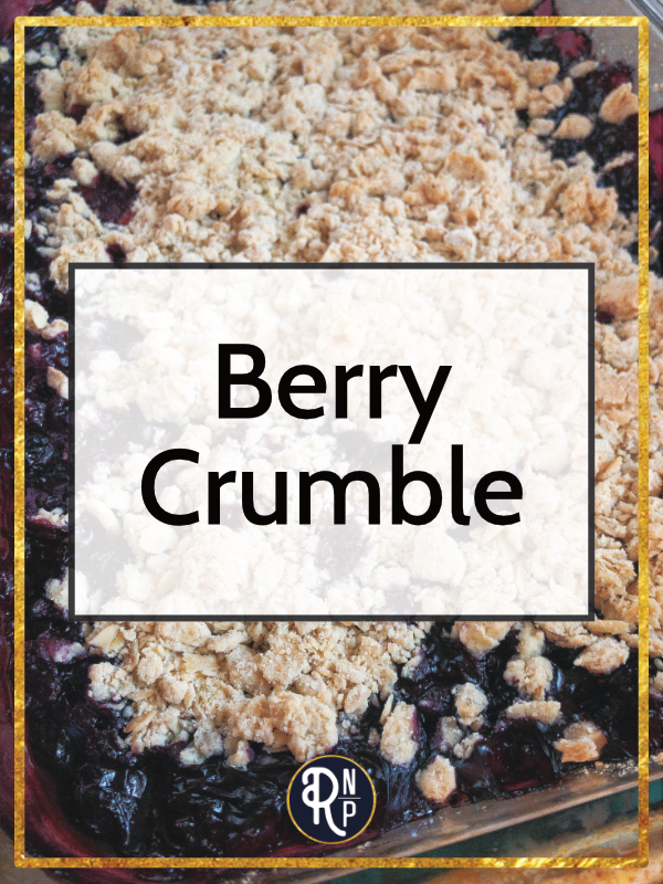 Summer might be the season of berries, but you can enjoy this berry dish all year round by using frozen berries instead of fresh. This berry crumble is so delicious we even ate it for breakfast a few times.