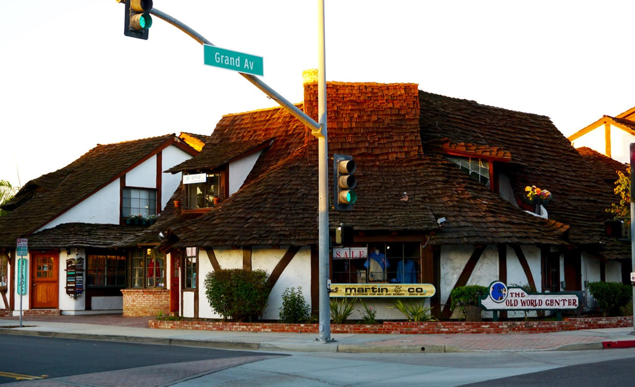 We are on the corner of Grand Ave. and Roosevelt St. in Carlsbad Village on the 2nd floor of the Old World Center