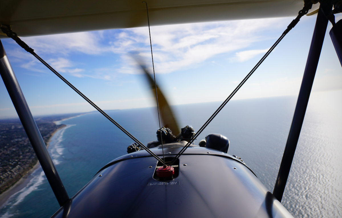 Photo: Carlsbad, California from an antique biplane.