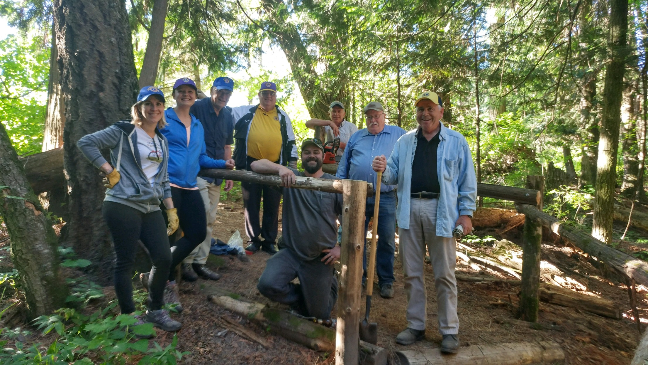 Moscow Central Lions Club spent an evening of service on June 14, adding additional railings, building stairs, and helping make trails easier to navigate.