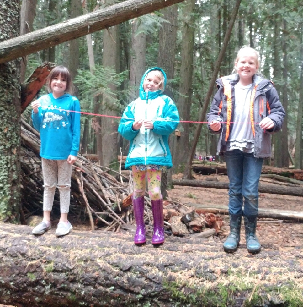 Kids+forest+learning = magic