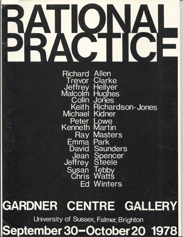 Rational Practice, Norbert Lynton, Gardner Center Gallery, University of Sussex, 1978   Click  HERE  for the PDF