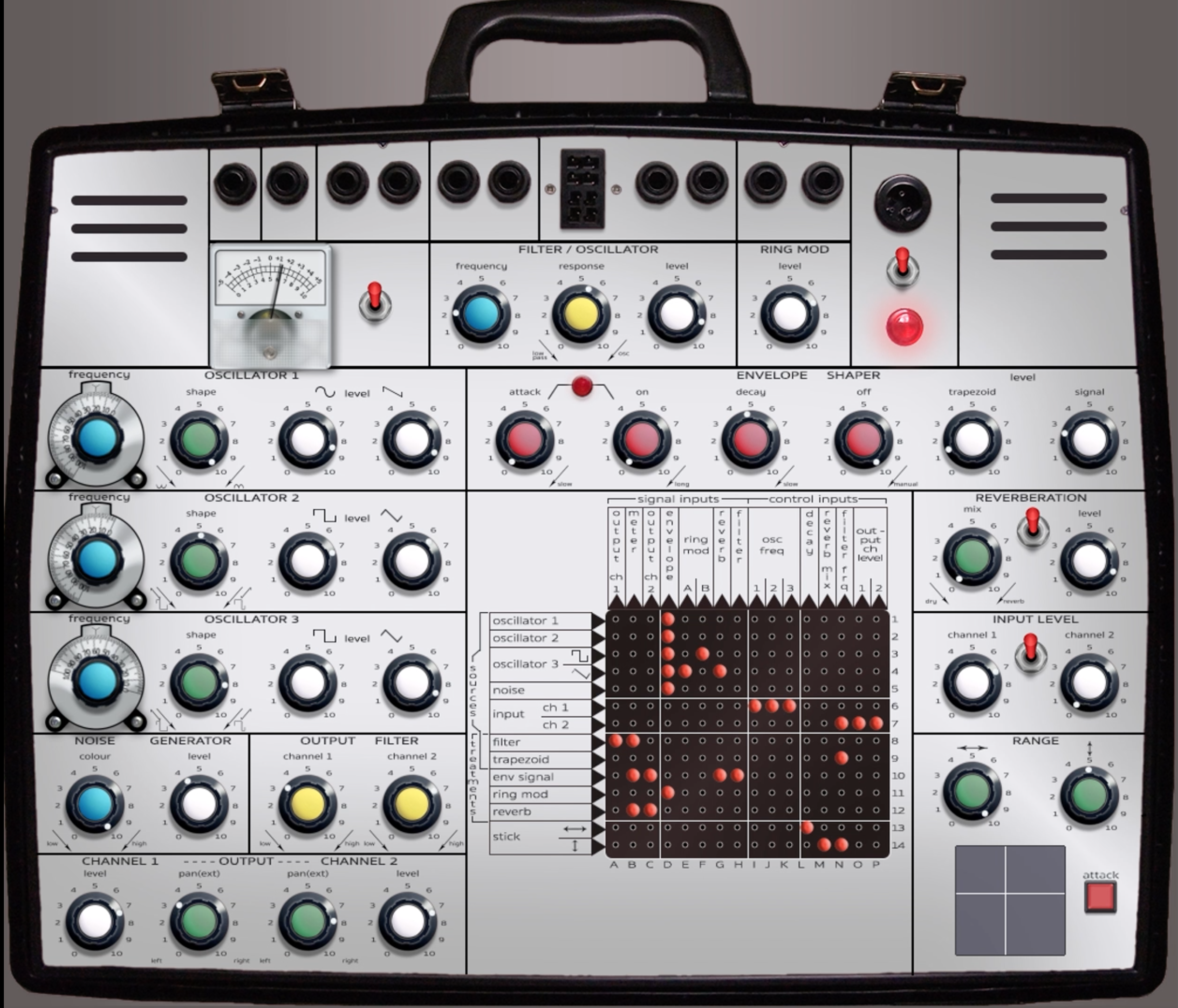 My Reaktor rendition of the EMS Synthi A