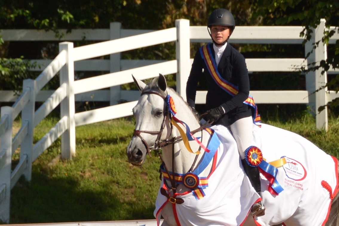 Zones 5 and 6 closed out the USHJA Children's and Adult Amateur Jumper Championships with the final round of the Individual competition where Children's rider Kristen Franz, 15, of Wayne, Illinois, won the coveted gold medal after riding all four rounds fault free.