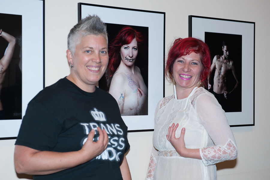 Amber Dawn and I goofing it up in front of her stunning image.