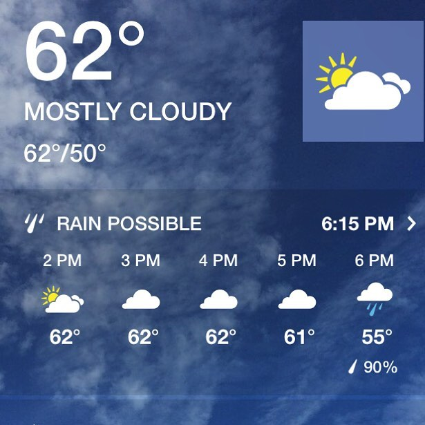 Nice weather today before the rain starts. 15% OFF today when you mention this post  #pittsburghbipolarweather