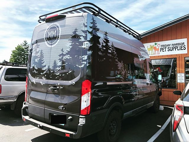 I designed a van graphic for a bike shop and I am pretty amazed at the way it turned out. #sanjuanisland #fridayharbor #meatmachine @chazzzam @mmcycle