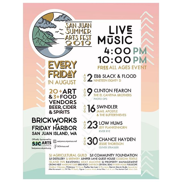Flyer design for the 2019 San Juan Arts Fair. I'm excited I get to actually attend this year! #fridayharbor #graphicdesign #posterdesign #sanjuanisland #sanjuanislands