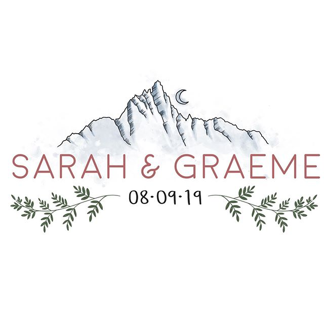 Logo design for a wedding 👰 I created using their engagement location, the Enchantments, as inspiration for the mountains. #logo #logodesign