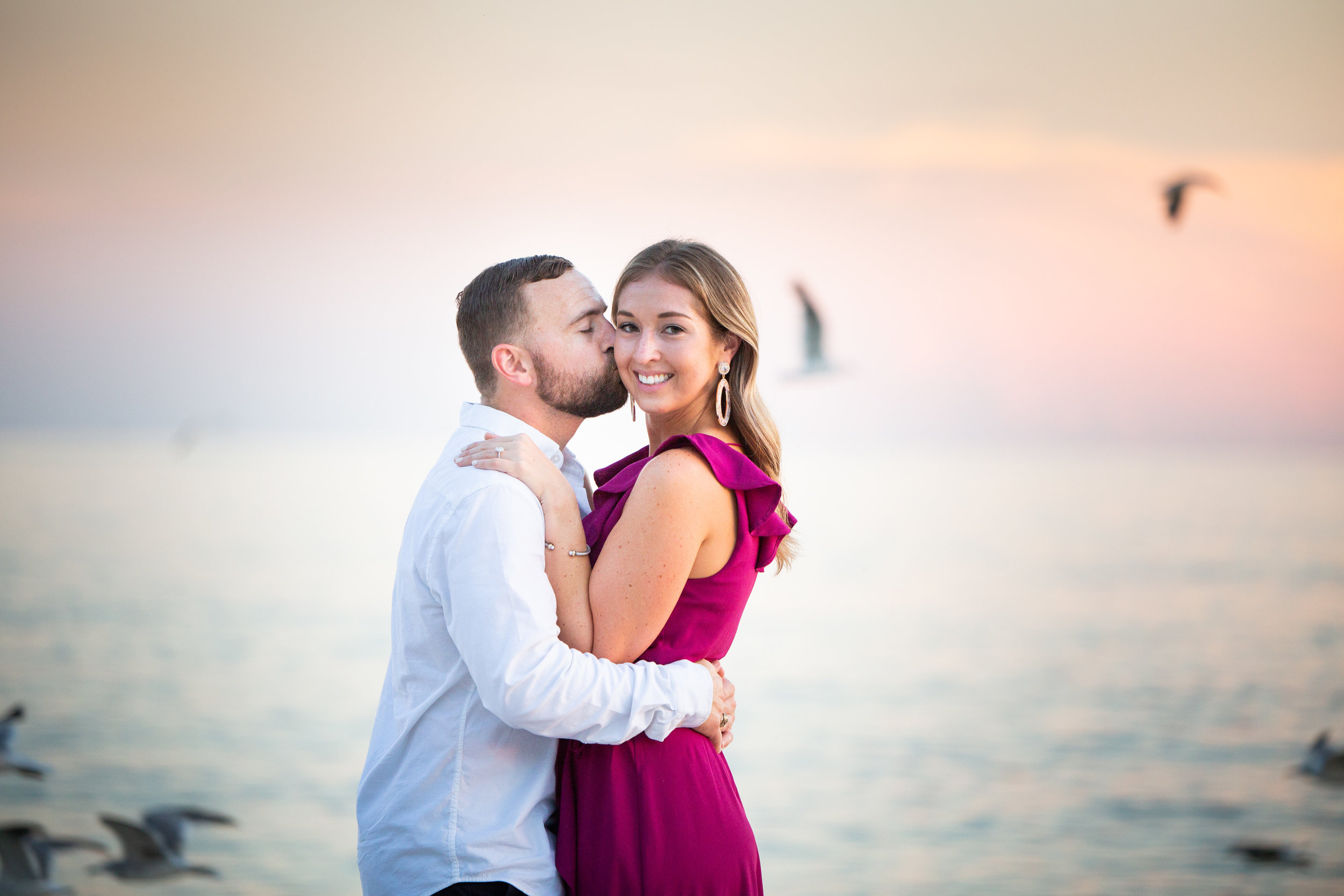 Snuggle In - there are few things more romantic than being together in paradise. enjoy this time all to yourselves with romantic engagement photos on the beach or location of your choice!