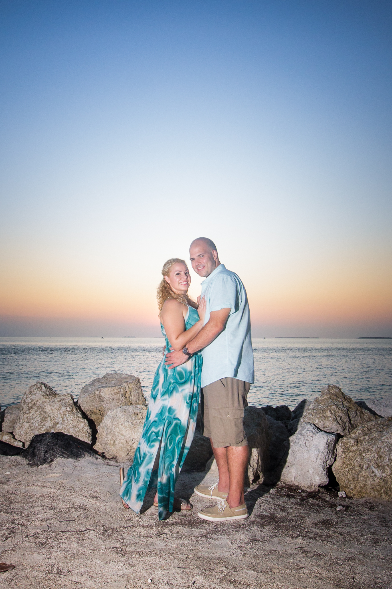 Couple gets engaged and celebrates with a Key West beach photo shoot