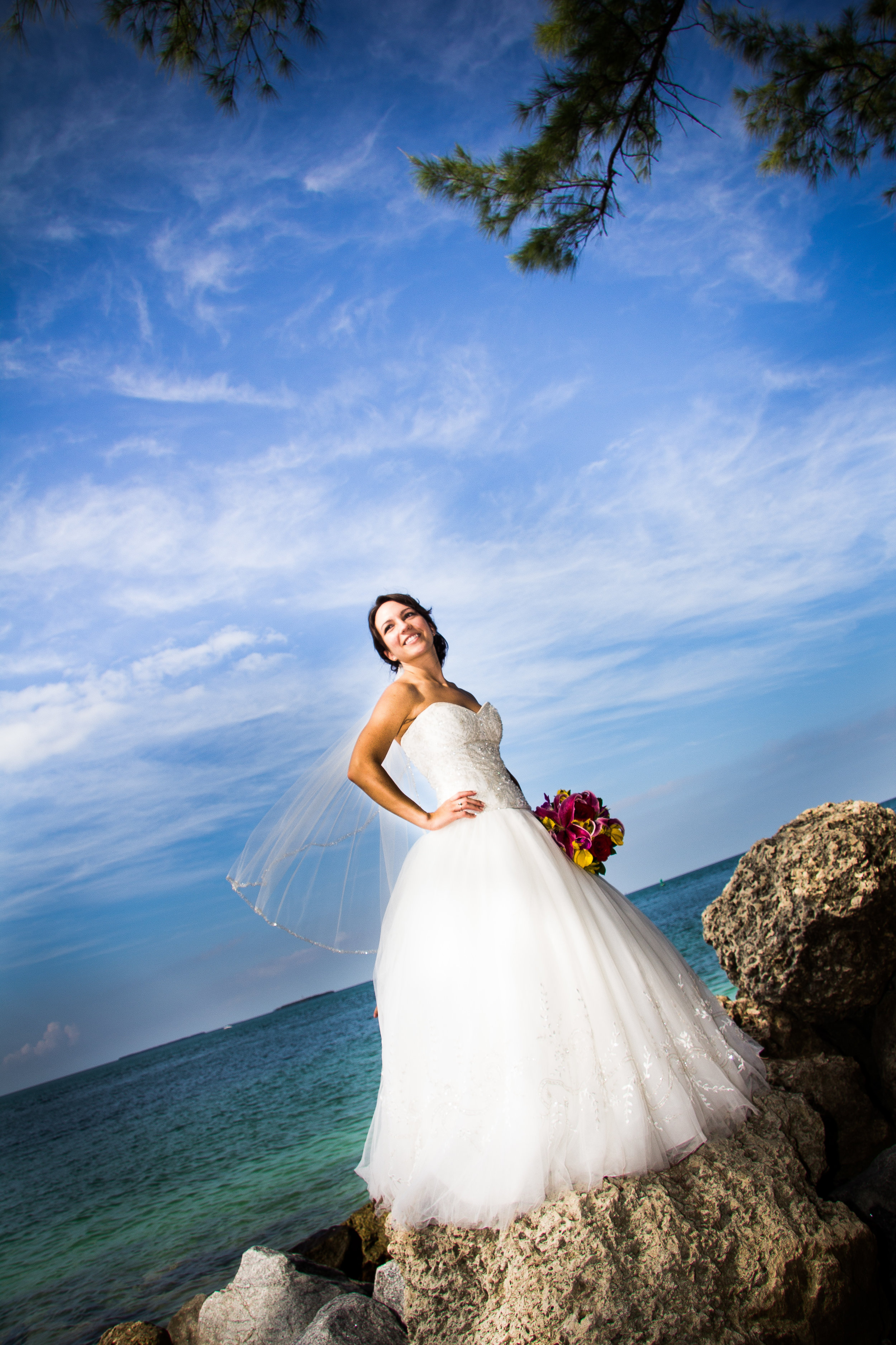 Bride-standing-on-rocks-at-fort-zach-during-key-west-wedding.jpg