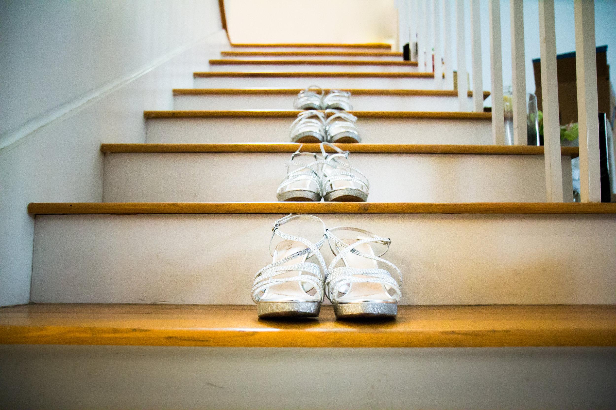Key West Wedding Shoes on Stairwell.jpg