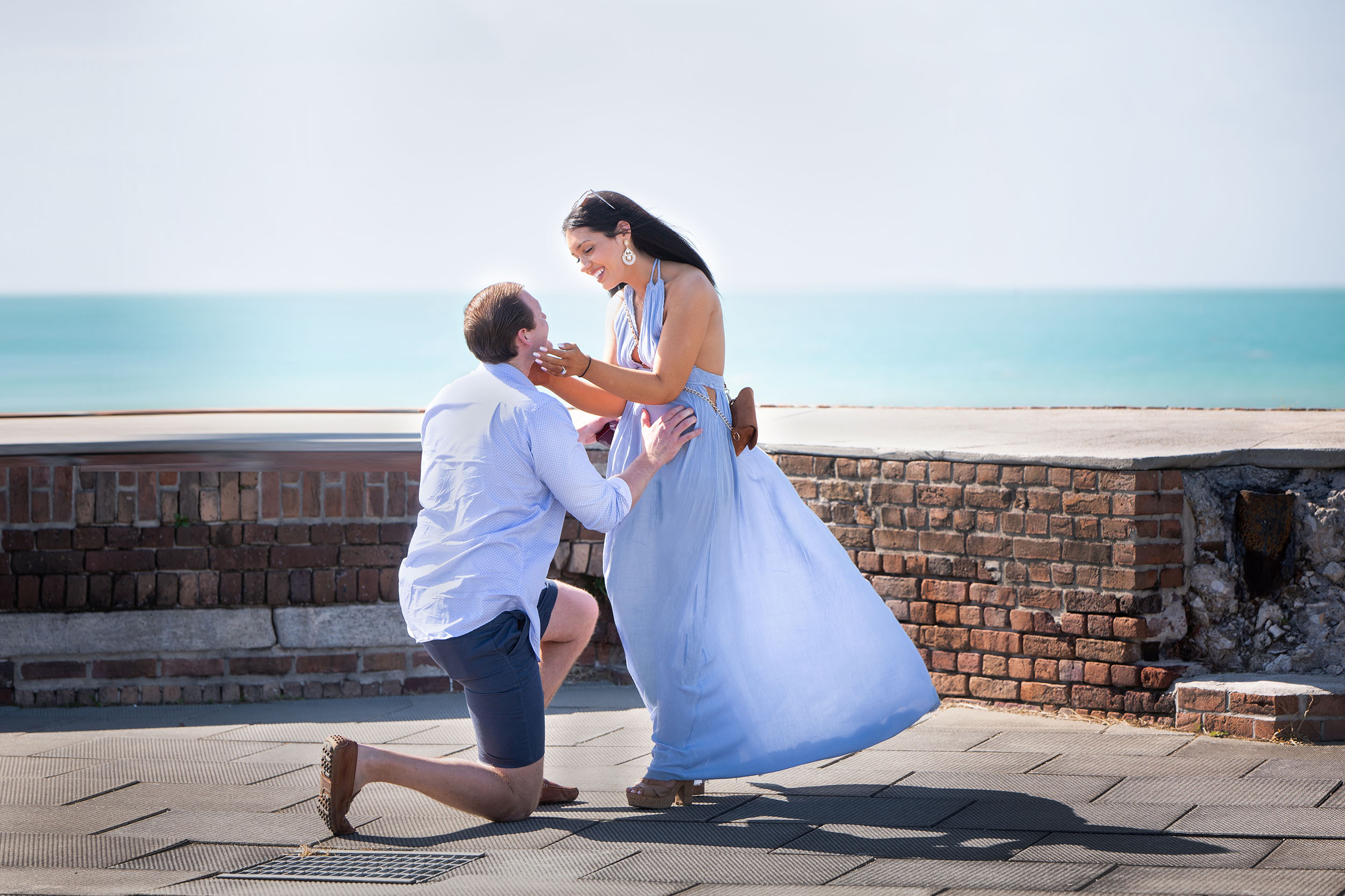 Asking the love of your life to marry you on top of a historic fortress in Key West overlooking the ocean