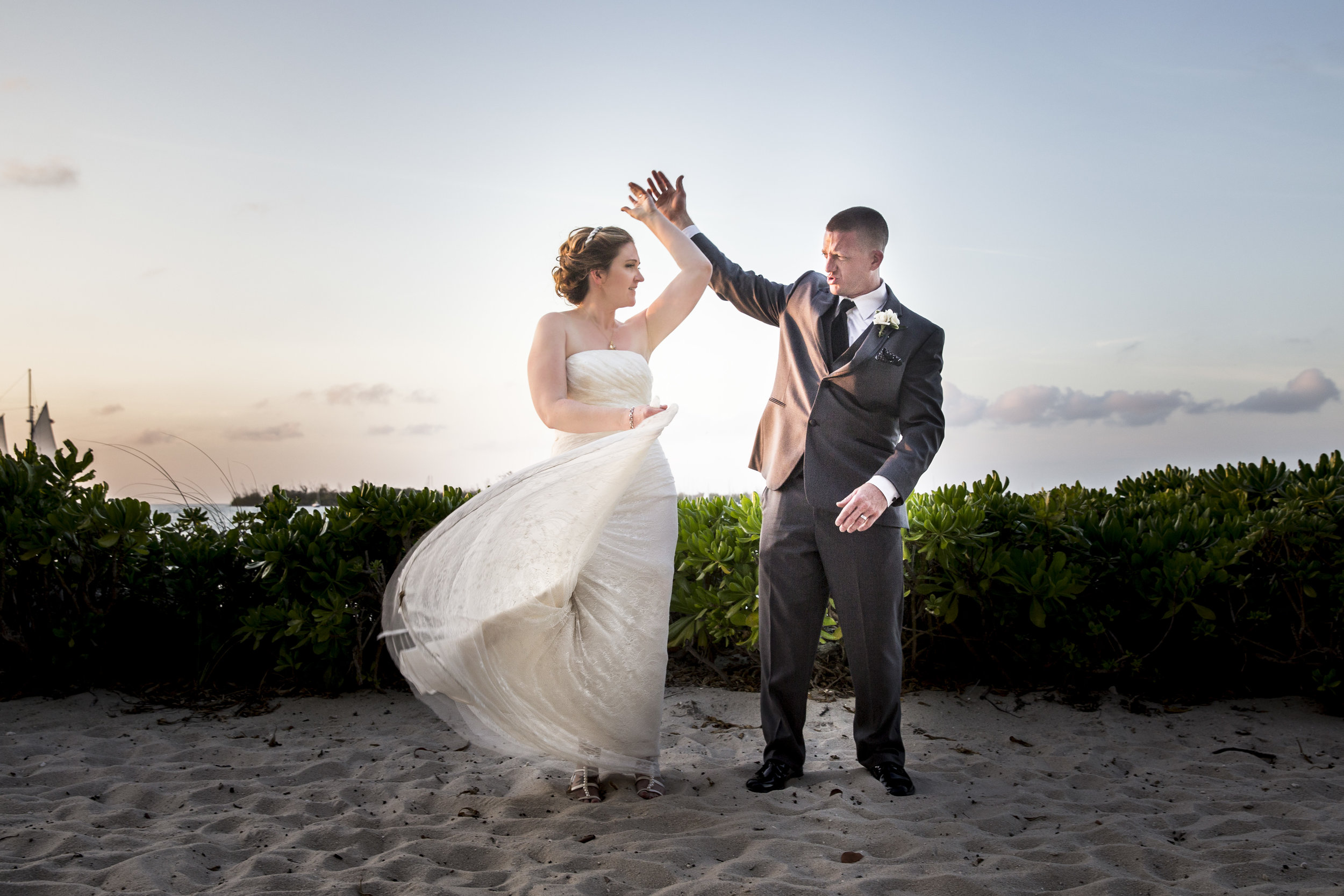 Key West Photographer Captures Couple Dancing on Beach at Pier House Resort
