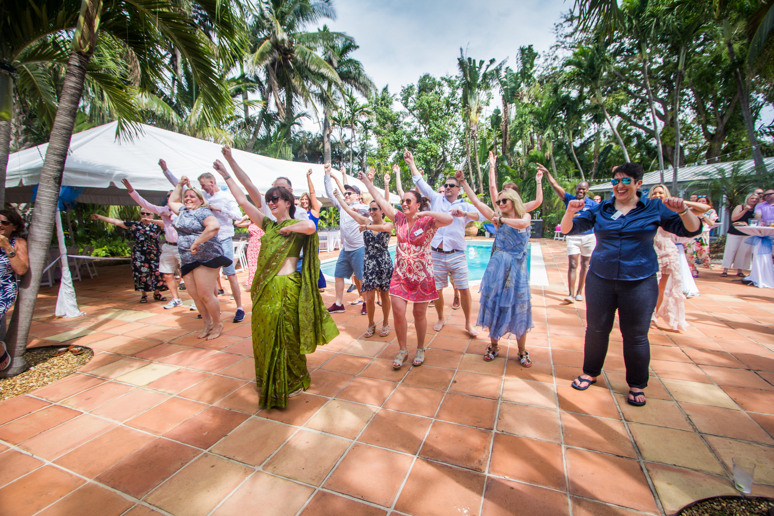 Family members perform a flash mob at a Key West wedding.jpg