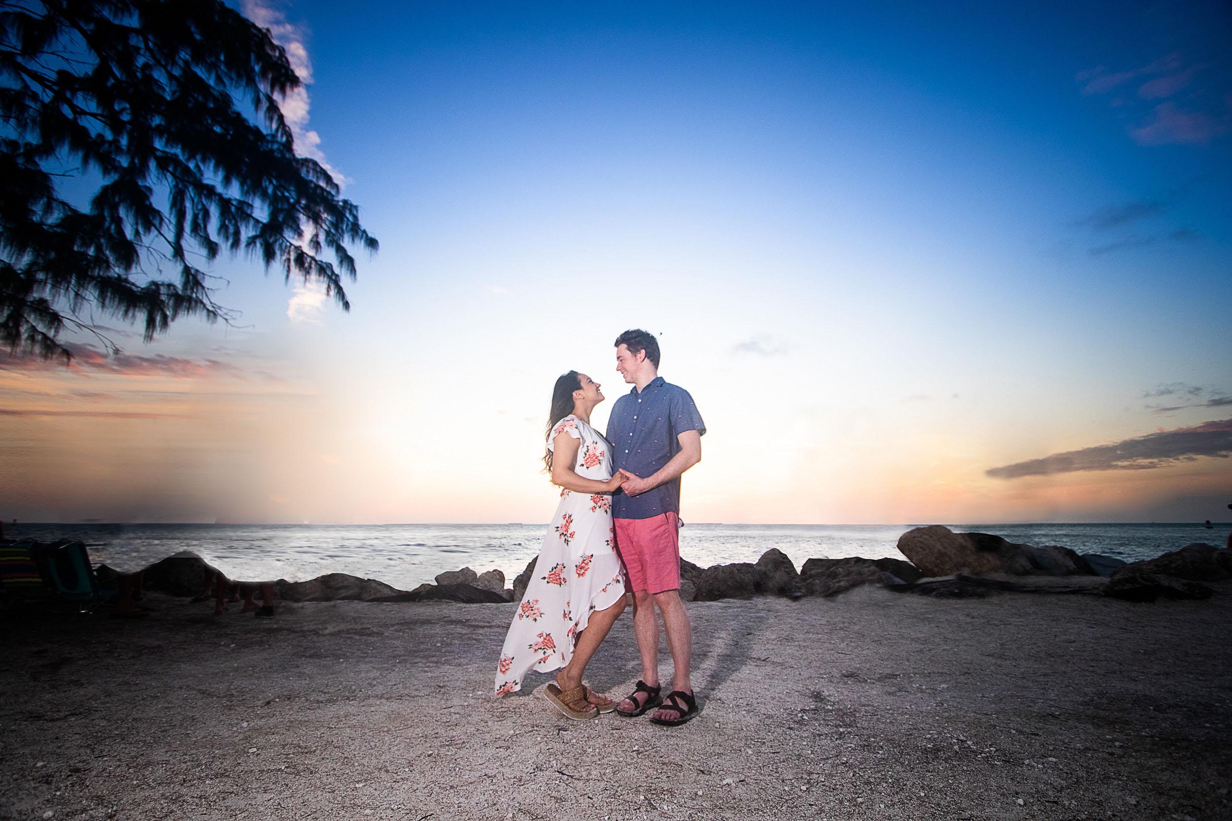 Key West Secret Engagement Portrait at Sunset.jpg
