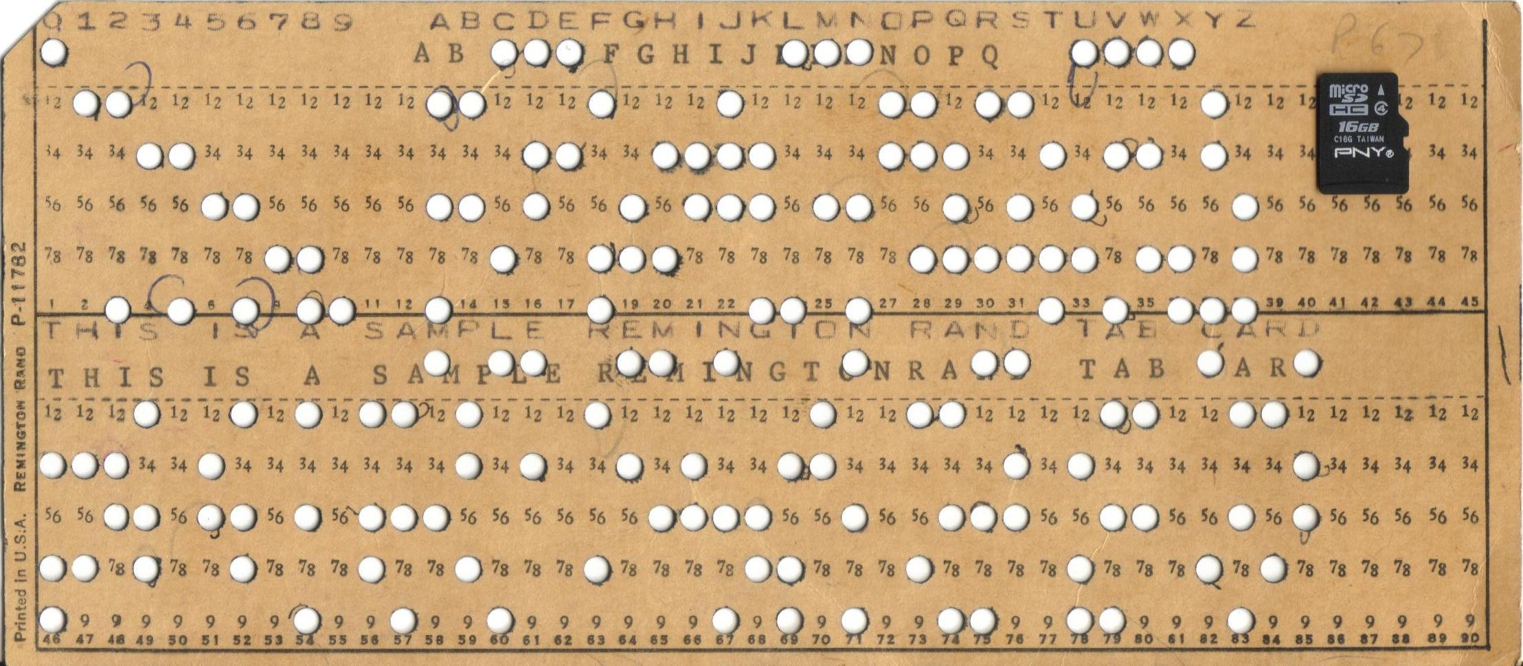 Original IBM Punch Card