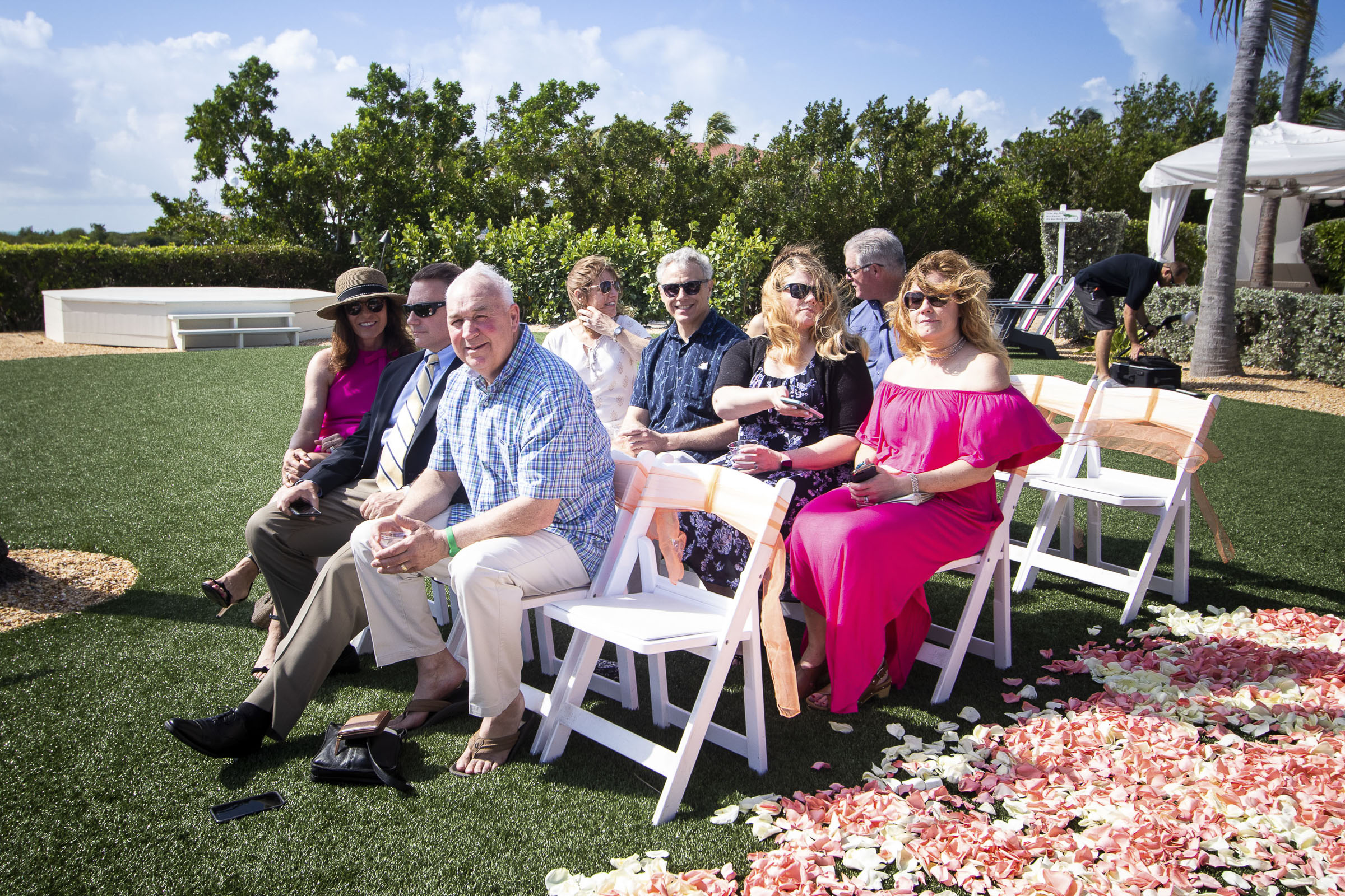 Guests of wedding waiting for the bride to walk down the aisle.jpg