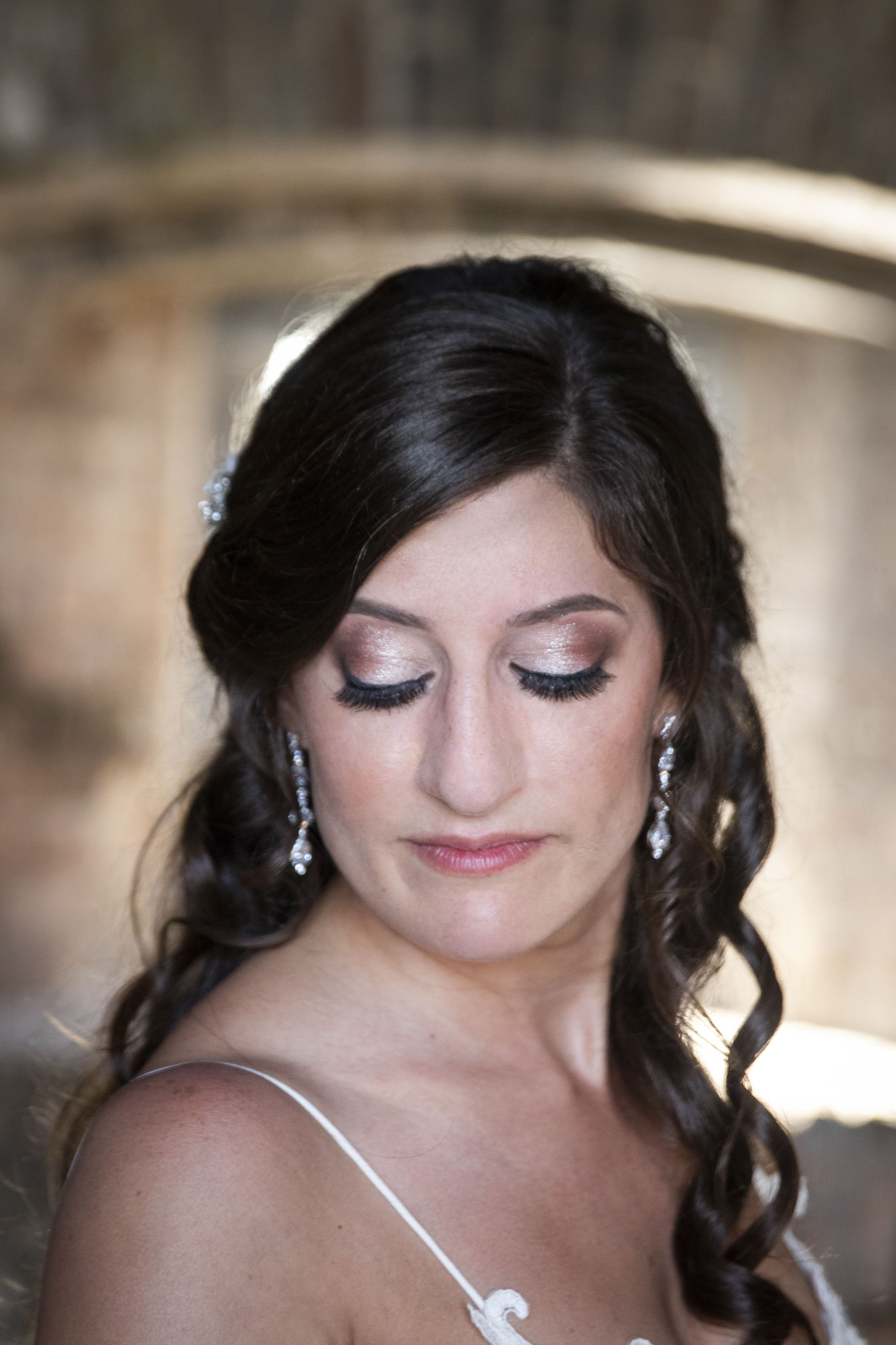 Bride makeup and lashes before Key West wedding
