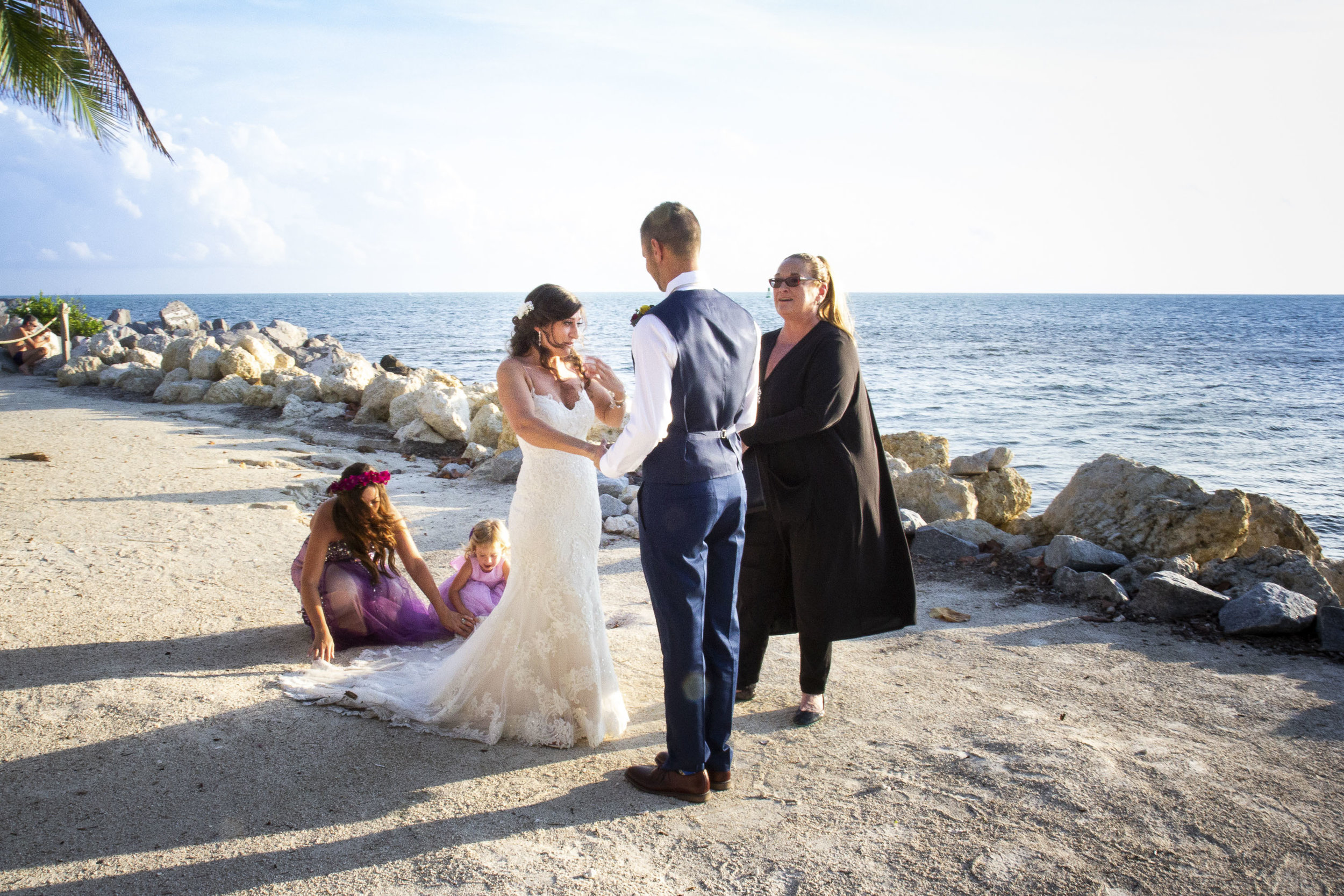Getting married on the beach of Key West