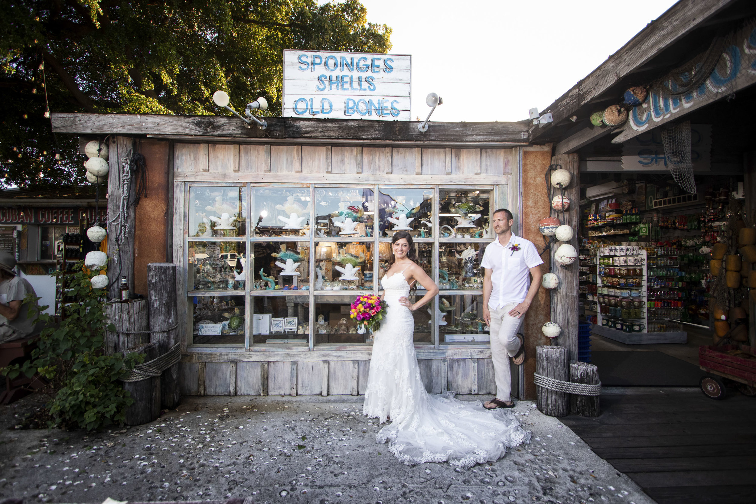 Key West photographer stops at Sponge Market in Key West for pictures