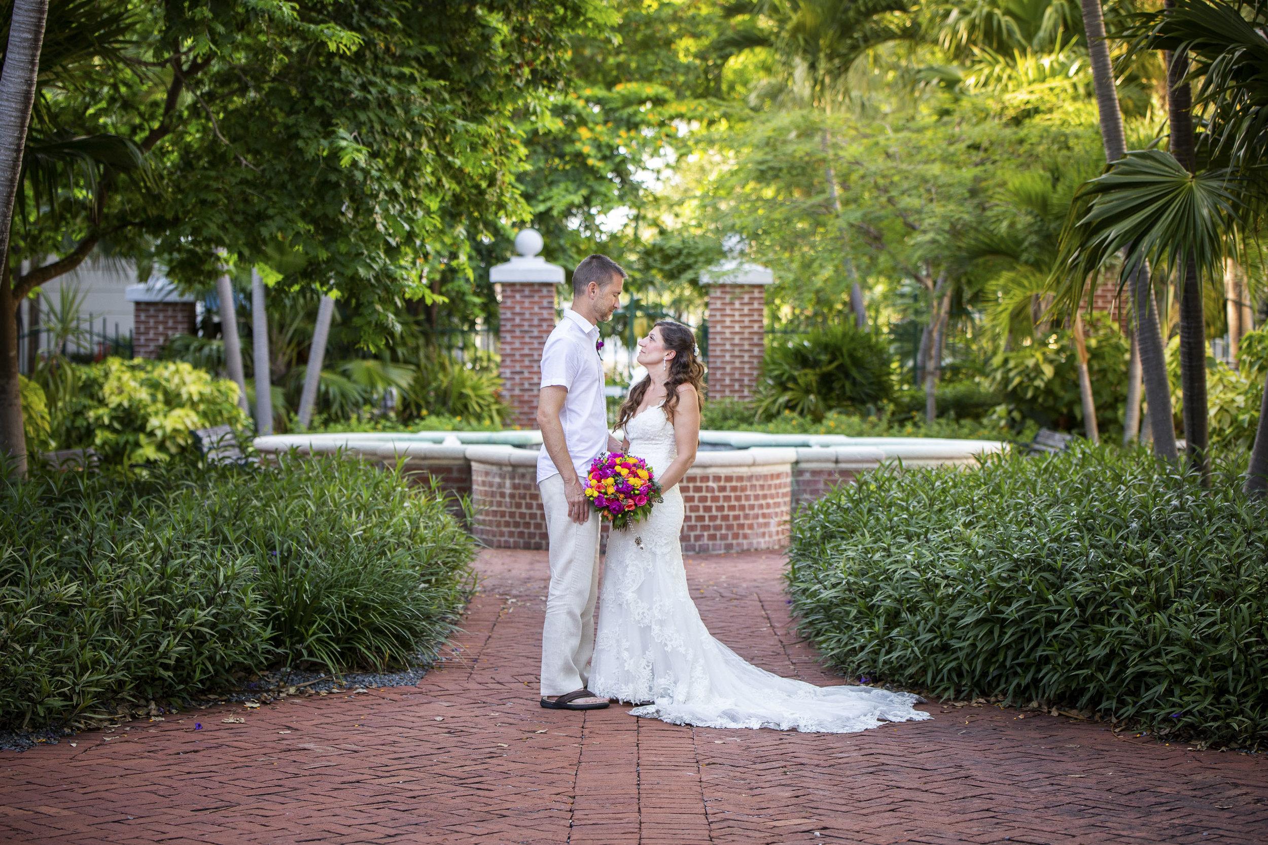 Wedding photos in Truman Annex in Key West