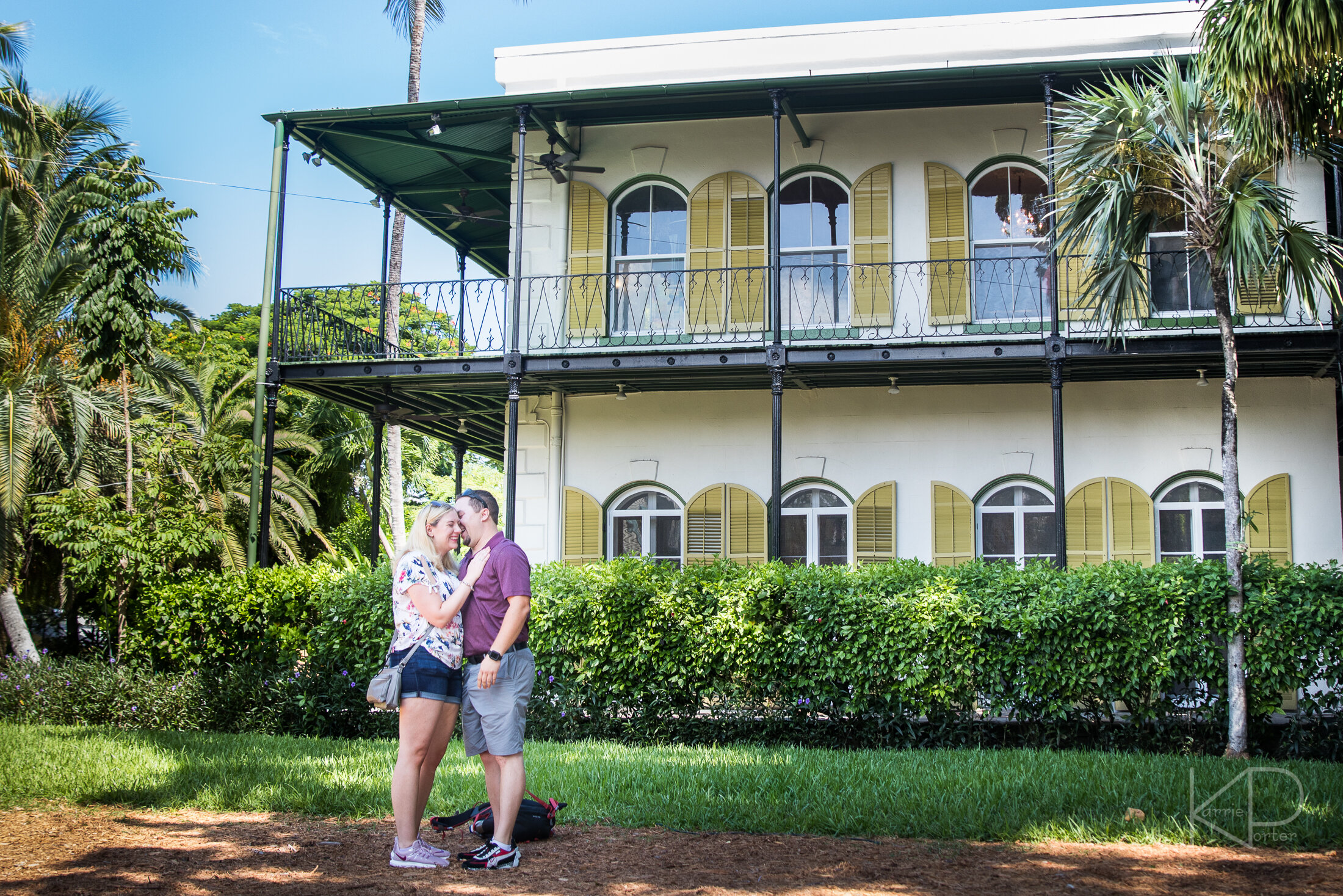 She said yes during undercover proposal in Key West at the Ernest Hemingway Home