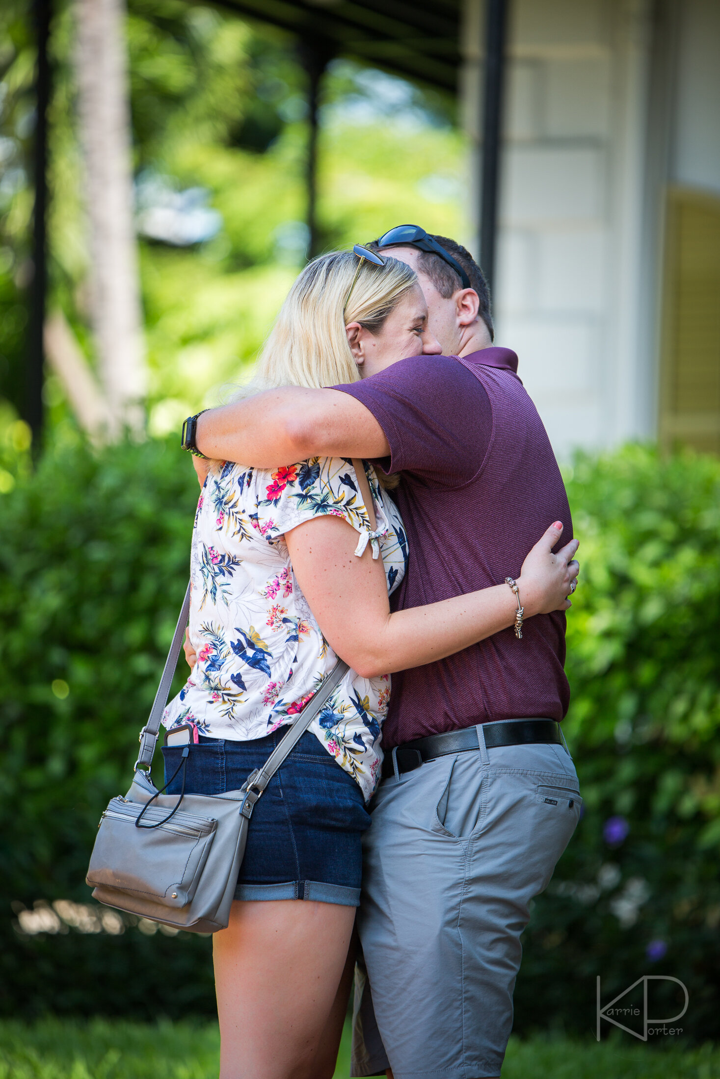 They just got engaged at Hemingway Home in Key West