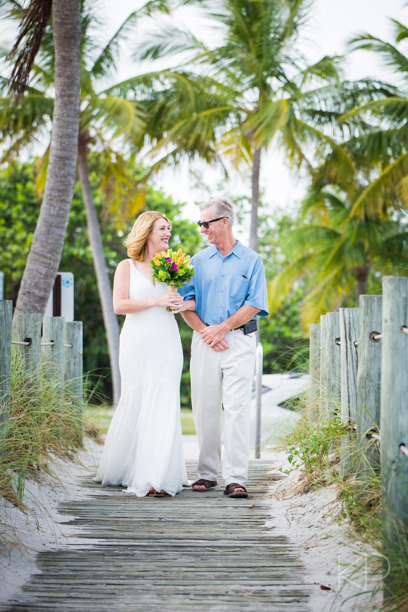 Bride ready for Key West wedding